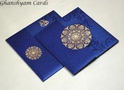 Designer Budget Wedding Card RB 1141 BLUE