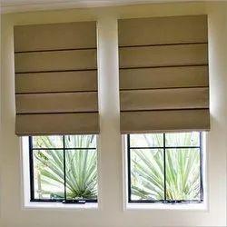 Non Woven Brown Roman Blinds, For Windows