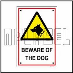 140032 Beware of The Dog Sign Name Plates