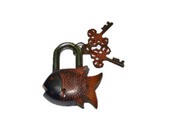 Brass Made Fish Lock (Red Color)