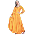 Yellow Silk Frok Suit