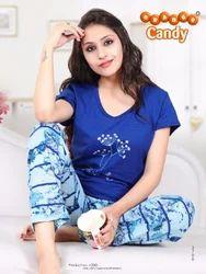 Cotton T-Shirt & Printed Pyjamas Size: L & XL