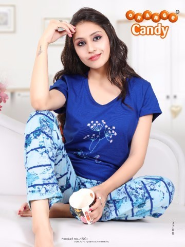 Cotton T-Shirt & Printed Pyjamas Size: L & XL