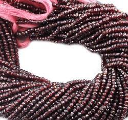 Garnet Coated Faceted Beads