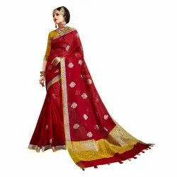 Exclusive Designer Kota Doria Weaving Saree With Blouse Piece