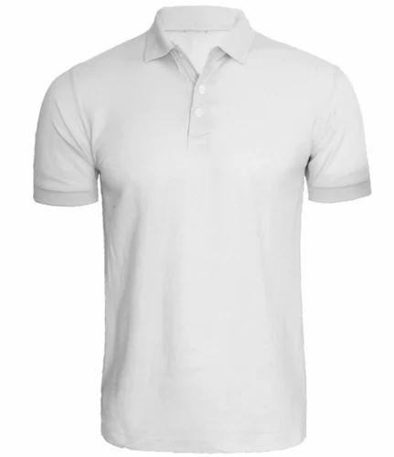 Plain , White Polo T-Shirt, Rs 230 /piece, INS Clothing ...