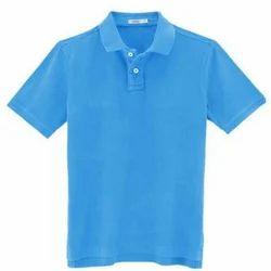 Collar Blue T Shirts, Size: M