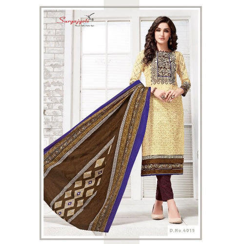 4a715cb818 Cotton Party Wear Suryajyoti Designer Churidar Suit, Rs 150 /piece ...