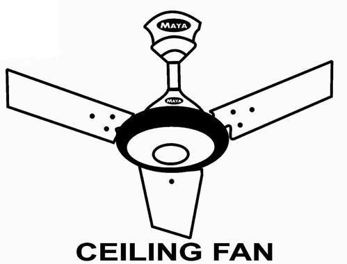 Ceiling Fan Line Drawing