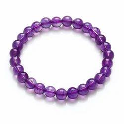 Amethyst Gemstone Beads Bracelet