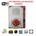 White 1080p Full Hd Mantrajap Machine Camera With Wifi & Built In 32 Gb Memory Card, For Security
