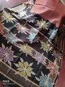 Madhubani Printed Tussar Silk Saree