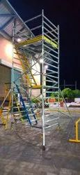 Aluminium Double Width Staircase Scaffold Ladder