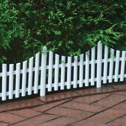 White Wooden Garden Fence