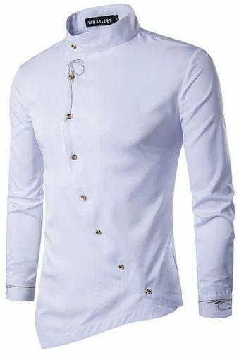 2390d53b220a Optional Cotton/Linen Mens Chinese Collar Shirt, Rs 700 /piece   ID ...