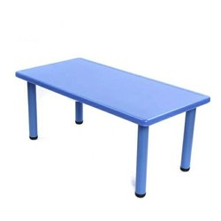 Plastic Preschool Rectangle Table, For School, Size: 48
