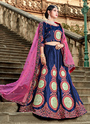 Pure Satin Resham Work Designer Wedding Lehenga