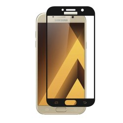 Samsung Galaxy J3 (Vmaxtel)High Quality Tempered Glass 9h Hardness (Black)