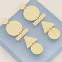 Gold Plated Handmade Women Geometric Shape Studs Earrings