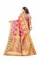 Patola Eri Silk Saree With Contrast Pallu