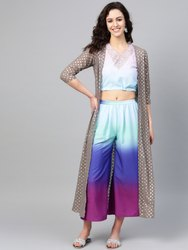 Kurta with Palazzos & Ethnic Jacket