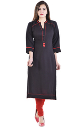 Pocket Embroidered Kurti