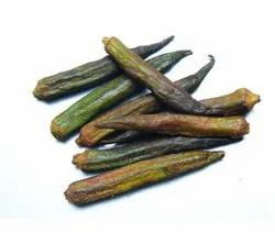 Vacuum Fried Spiced Okra Mint Chips