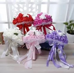Pink Wedding Bouquets Bride Holding Flower
