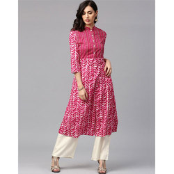 Cotton Pink Palazzo Suit