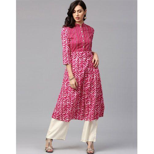514f7c70fdfe Cotton Pink Palazzo Suit, Rs 725 /set, Nandani Creation Limited ...