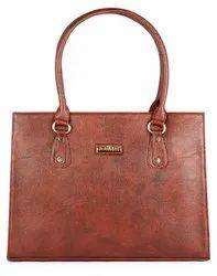 Synthetic Plain The Clownfish Women''s Handbag-Tan