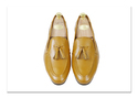 Tan Tassel Leather Loafers Shoes