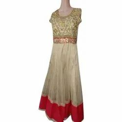 Ladies Embroidered Net Gown