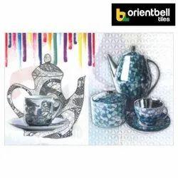 Satin Matte Orientbell Tiles Orientbell OTF ROYAL ALBERT TEA CUP 1 Decorative Wall Tiles, Size: 300X450 mm