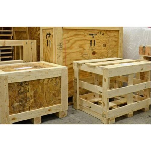 Industrial Wooden Storage Crate Box