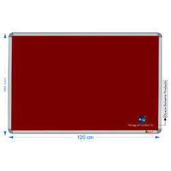 Spbm90120 Maroon Notice Board
