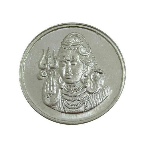 Lord Shiva Silver Coin At Rs 450 10 Gram Silver Coins