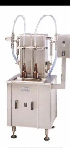 Semi Automatic 2 Head Liquid Filling Machine