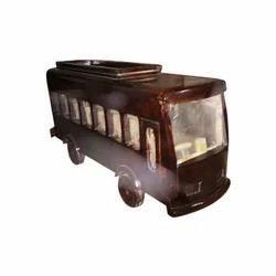 Brown Handicraft Bus Toy, For School/Play School