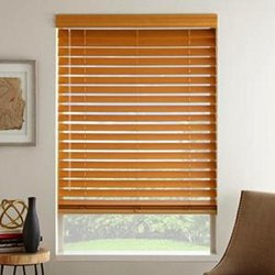 Brown Wooden Window Blind