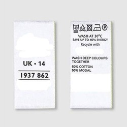 Printed Fabric Label