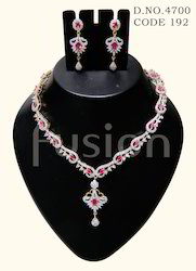 American Diamond Trendy Designer Necklace Set