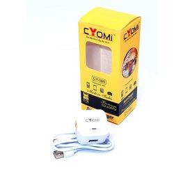 White Cyomi Cy 008 USB Charger For Mobile Charging