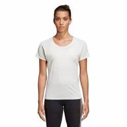 Half Sleeve Round Adidas Jacquard Training Women T-Shirt, Size: XL