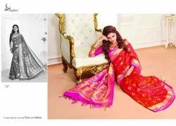 Art Silk Orange Color Pattu Saree