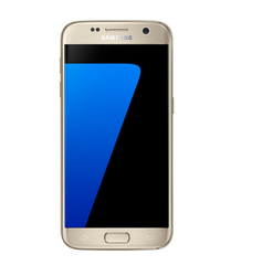 Golden Samsung Galaxy S7 Phone