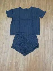 Ladies Short Pajama Set