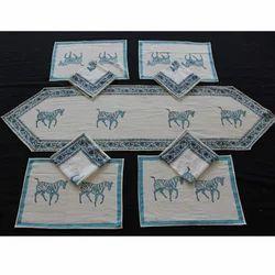 Block Printed Dining Table Mat Set