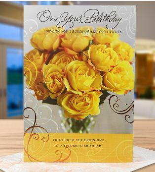 Flower Birthday Greeting Card