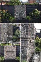 BLack Stone Wall Fountain